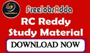 RC Reddy Study Material PDF
