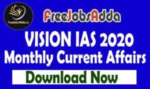 Vision IAS Current Affairs 2020 Free PDF