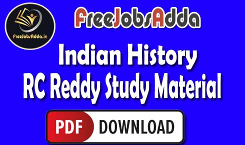 RC Reddy Indian History Study Material PDF